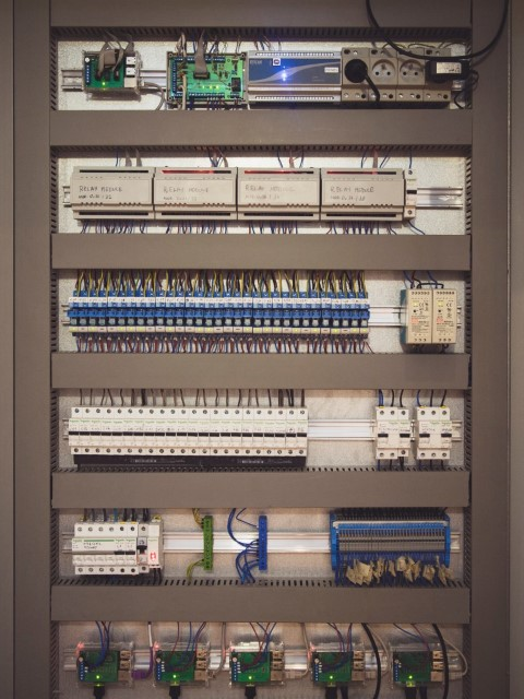 photo of the power distribution board